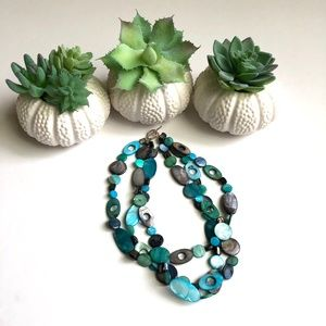 Jewelry - Made in Canada - Multi-coloured 3-strand Necklace